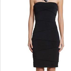 WHBM Black shapewear bodycon dress NEW 10